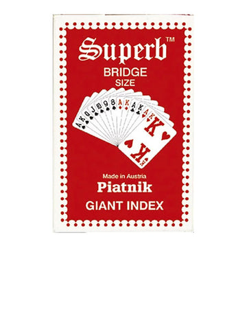 Piatnik Superb Bridge Giant Index Red/Back Playing Cards