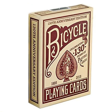 Bicycle 130th Anniversary Edition Playing Cards-Red Backed