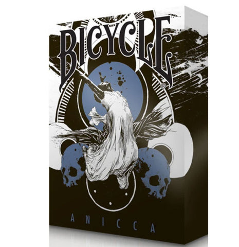 Bicycle Anicca Playing Cards Metallic Blue By Card Experiment
