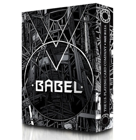 Babel Playing Cards Black By Card Experiment