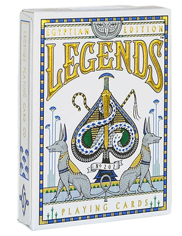 Egyptian Legends Playing Cards-Blue Backed