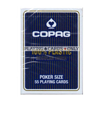 Copag poker size plastic STANDARD index playing cards - Blue backed