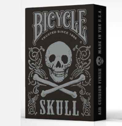 Bicycle Skull Playing Cards-Black
