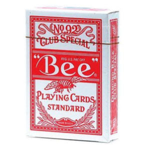 Bee Club Special Diamond Back Poker Playing Cards - Red