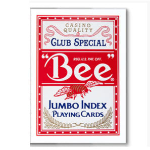 Bee Club Special Diamond Back Poker Playing Cards - Red - Jumbo Index