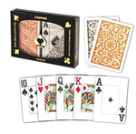 Copag 1546 Poker Jumbo Index - Orange & Brown Boxed Twin Pack
