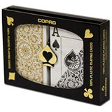Copag 1546 Poker Standard Index - Black & Gold Boxed Twin Pack