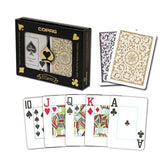 Copag 1546 Poker Jumbo Index - Black & Gold Boxed Twin Pack