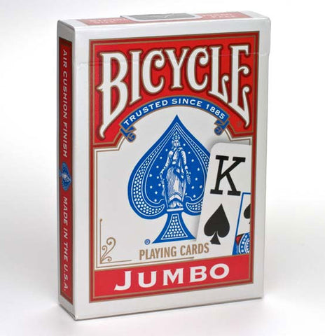 Bicycle Playing Cards Jumbo Index-Red Backed