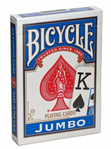 Bicycle Playing Cards Jumbo Index-Blue Backed