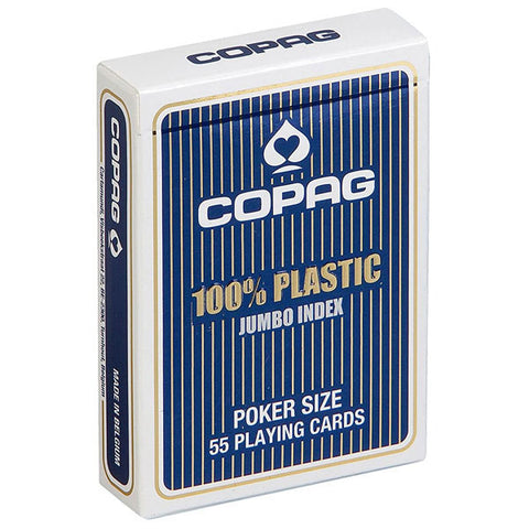Copag Jumbo Index 100% Plastic Playing Cards-Blue Backed