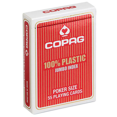 Copag Jumbo Index 100% Plastic Playing Cards-Red Backed