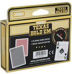 Copag Texas Hold' Em JUMBO Index, Double Deck & Metal Dealer Button