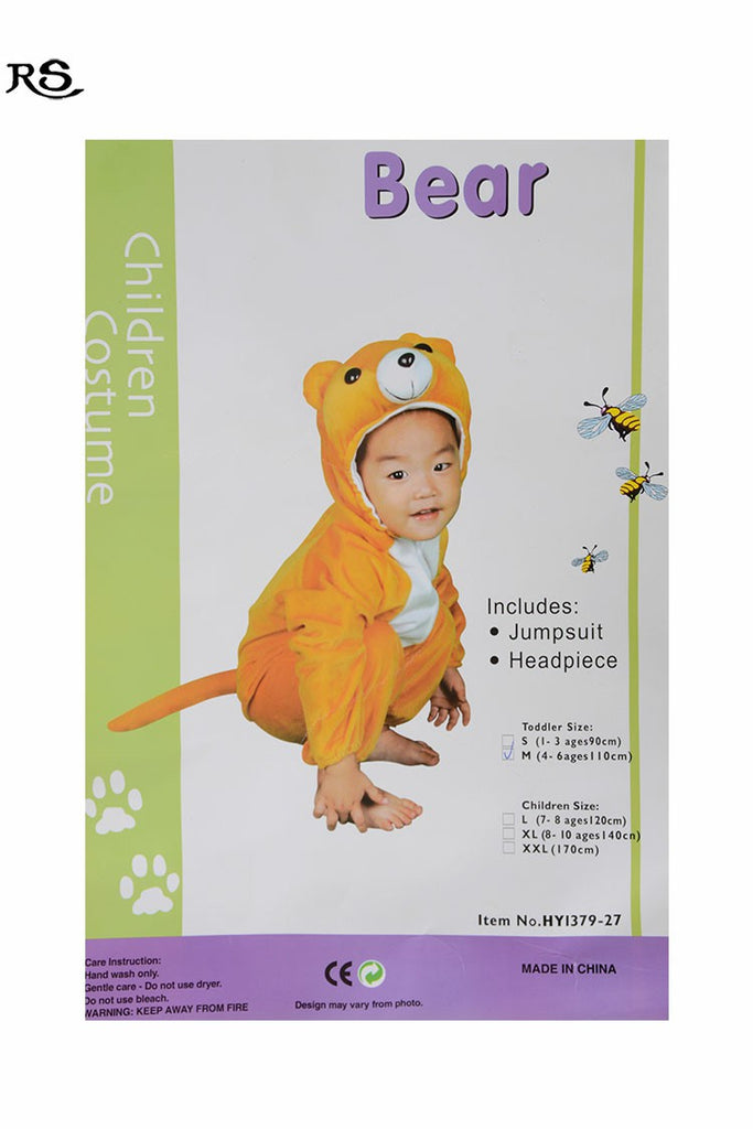 Kids Bear Costume With Jump Suit And Headset