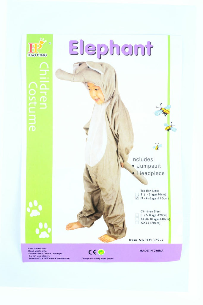 Kids Elephant Costume With Jump Suit And Headset