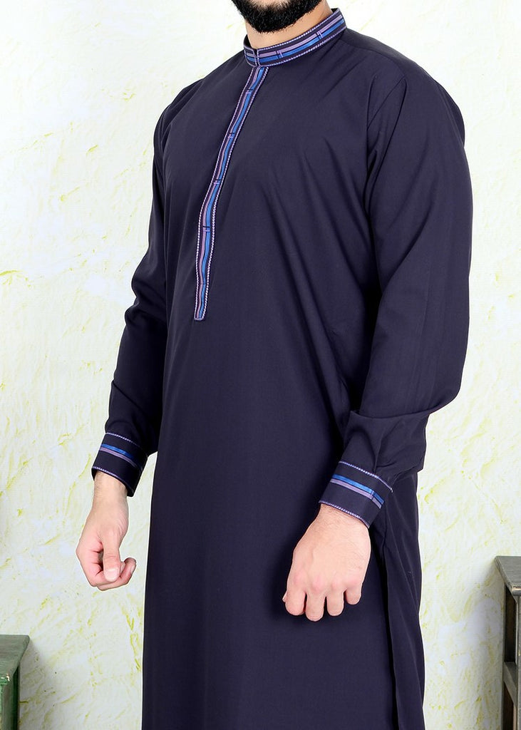 Black Pearl Kameez Shalwar Wash N Wear Dark Purple