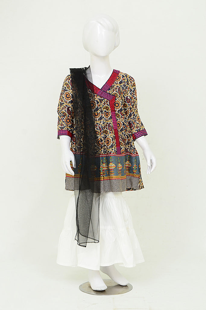 Girls Shalwar Suit With Duppata