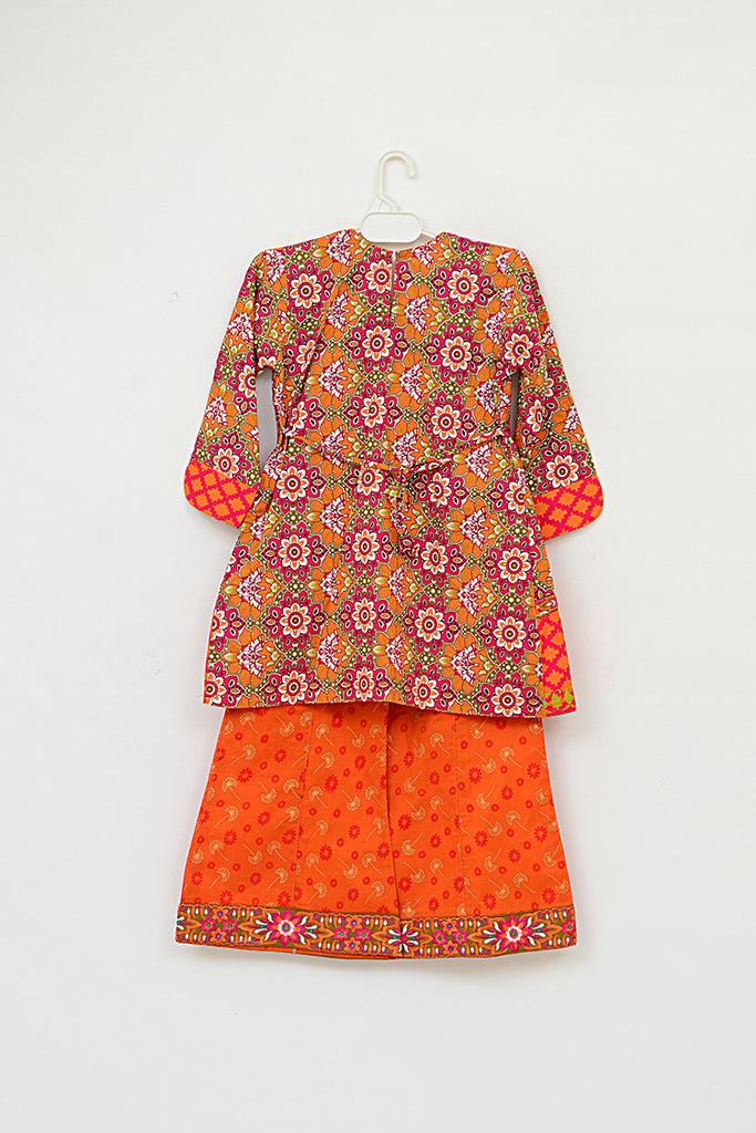 Girls Printed & Embroidered Shalwar Suit