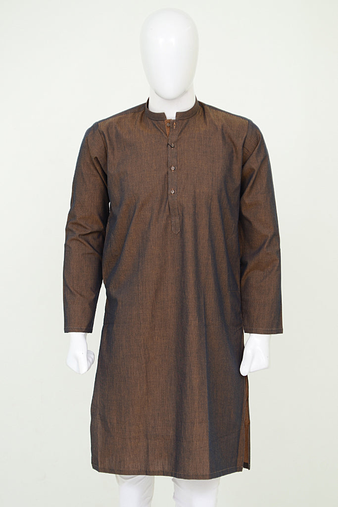 Black Pearl Kurta Chambray Cotton