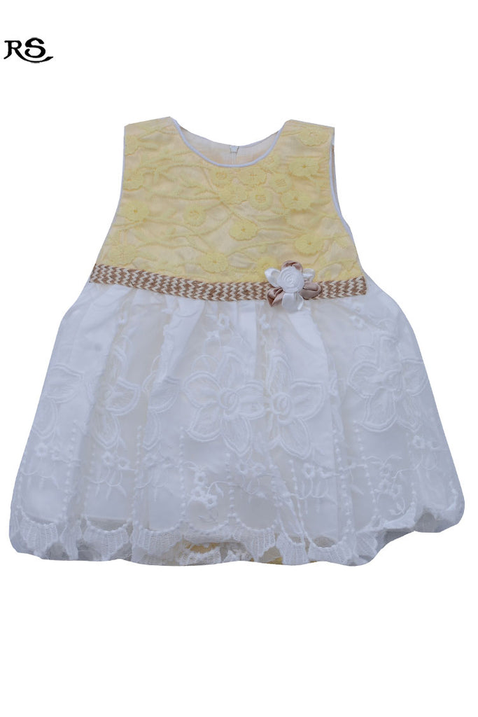 Formal Wear Kids Fancy Frock Yellow