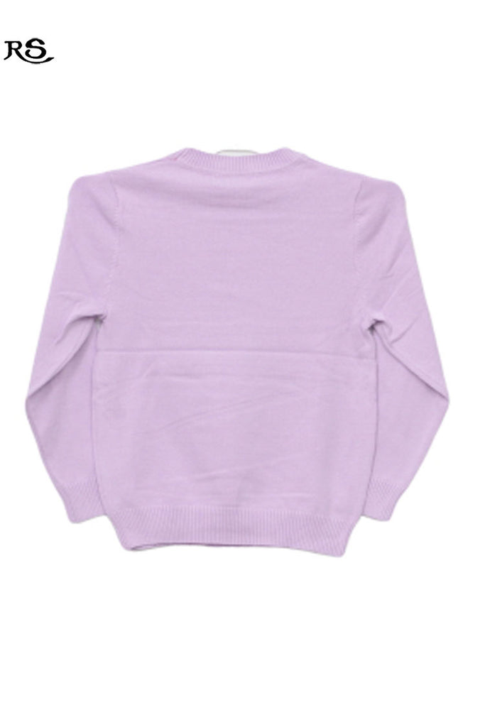 Girls Full Sleeves Sweater Purple