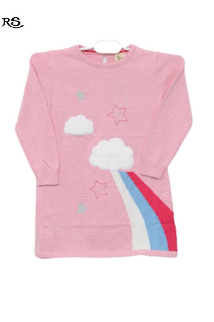 Girls Full Sleeves Sweater Pink