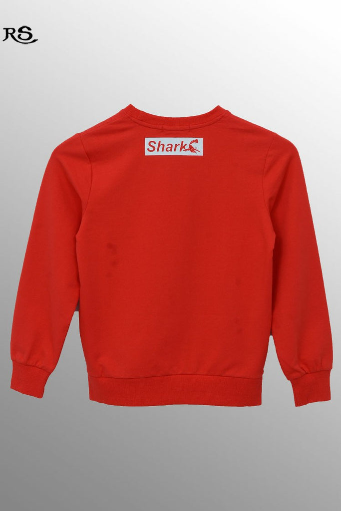 Boys Patterned Sweatshirt Red