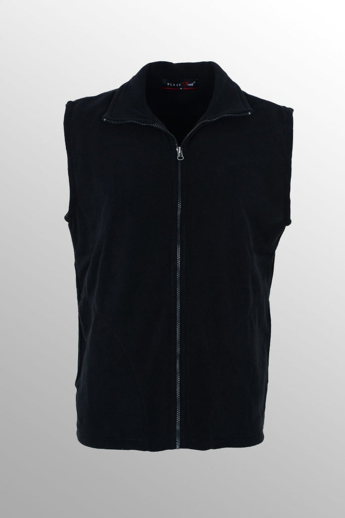Men's Fleece Jacket Sleeveless Black
