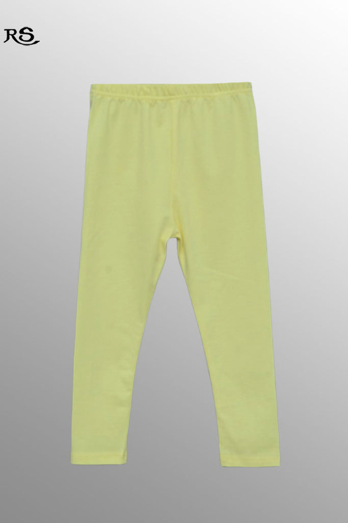 Girls Knit Cotton Stretch Legging Light Yellow