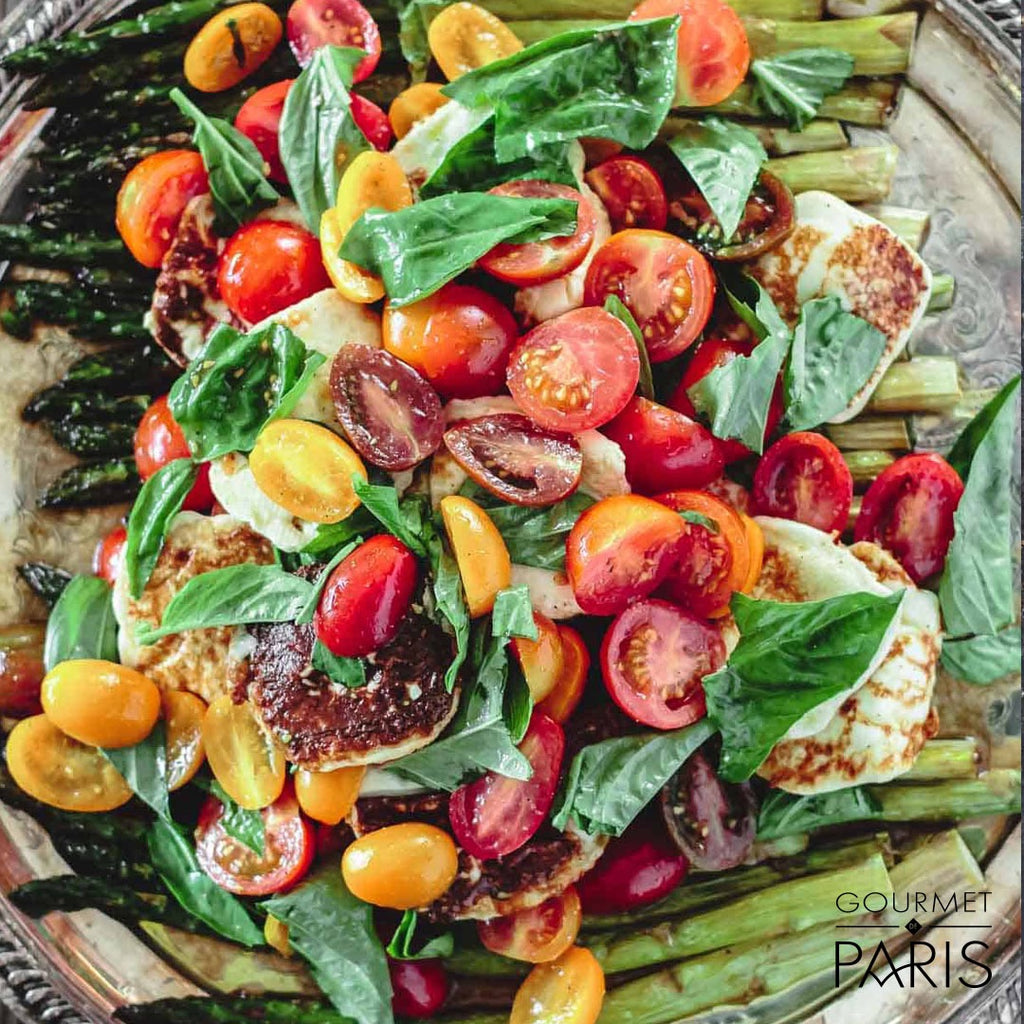 Roasted Asparagus Salad with Tomato and Basil