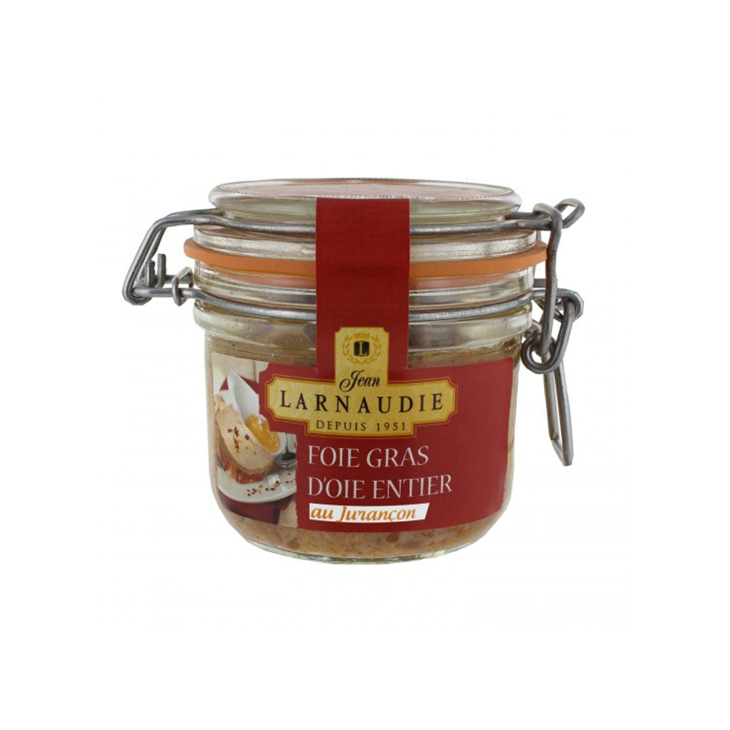 Foie Gras Goose Whole w/Jurancon Larnaudie Glass Jar 120g