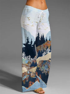 Women's Mountain Treetop Printed Pants