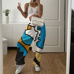 Women's casual print sweatpants
