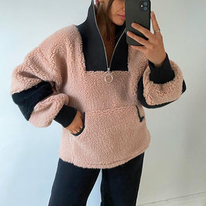 LADIES STITCHING TURTLENECK SWEATER
