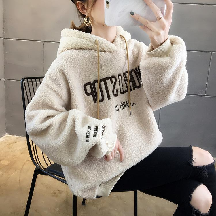 Women's fashion casual alphabet hoodie