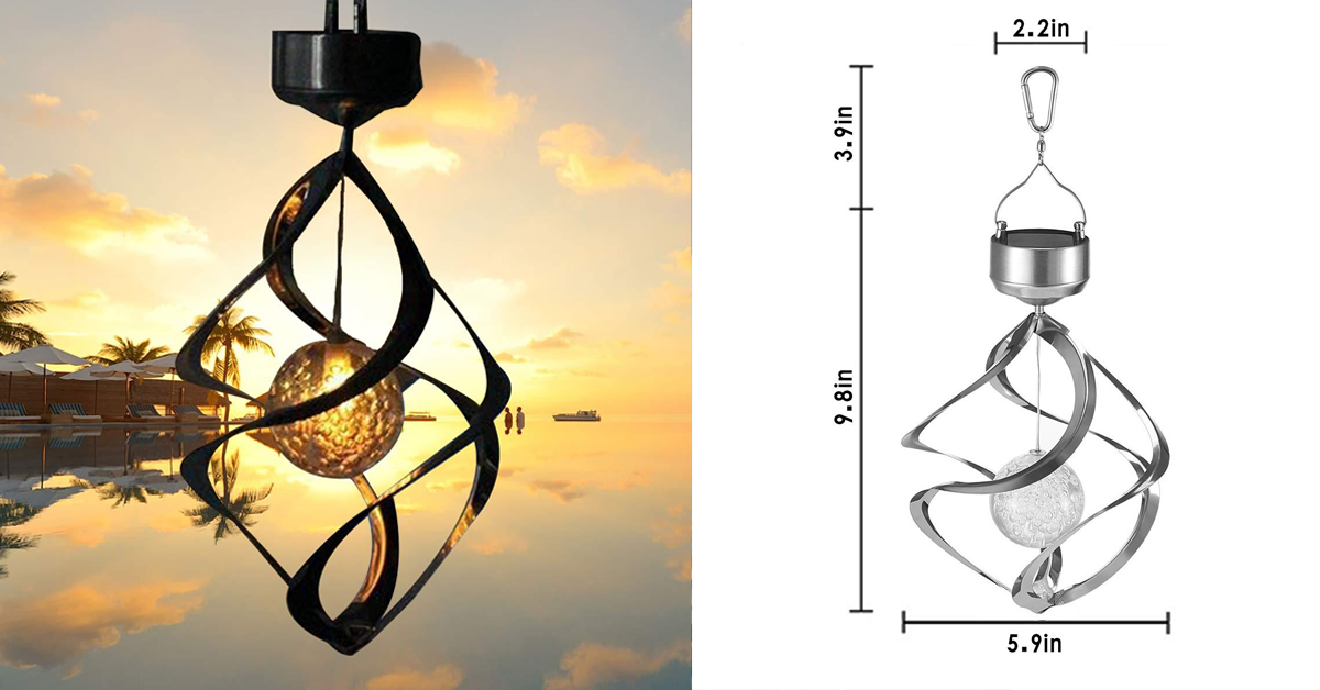 LED Color Changing Solar Wind Chime Light