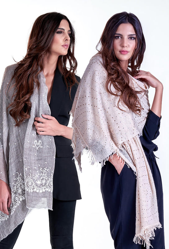 Scarves Luxury Linen Cashmere Martina Vidal