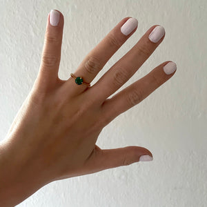 Exclusive Ring - Small Green Stone