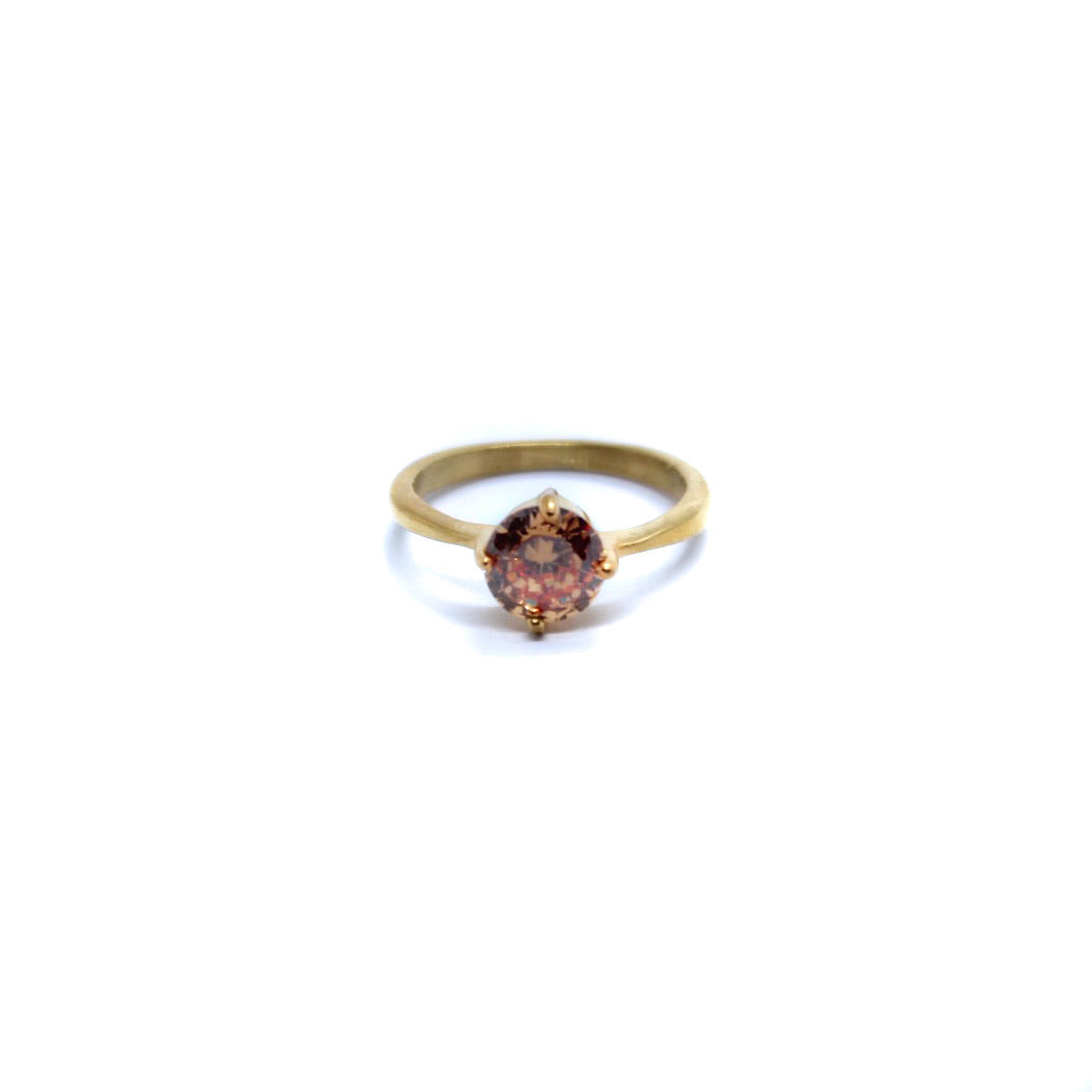 Exclusive Ring - Small Peach Stone