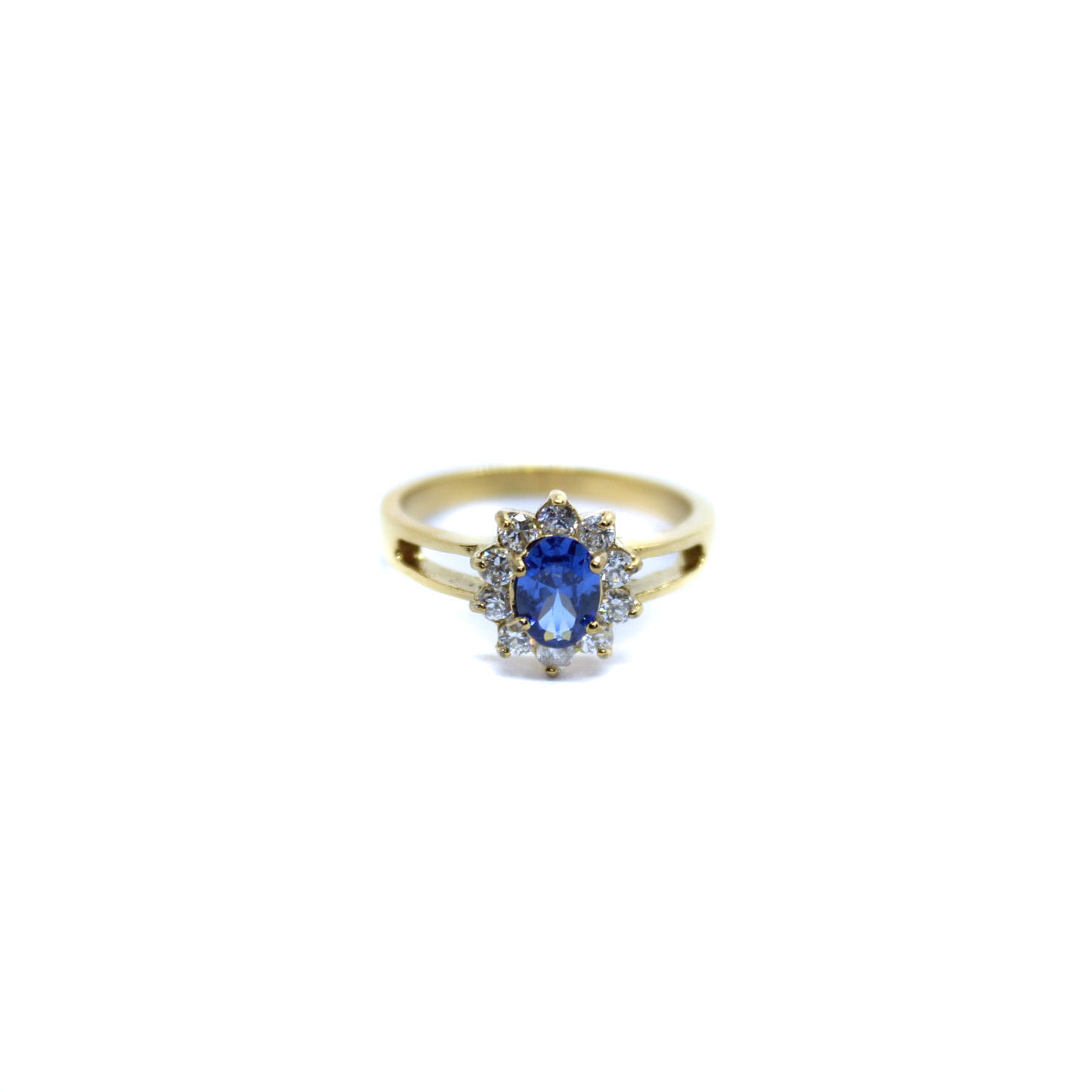 Exclusive Ring - Small Vintage Flower Blauw