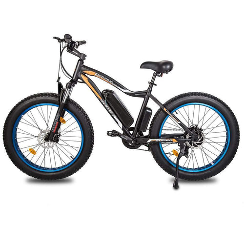 "ECOTRIC ROCKET 26""Powerful Fat Tire Electric Bicycle Mountain Bike 500W Ebike Beach Snow Shock Absorption - Ebikecentric"