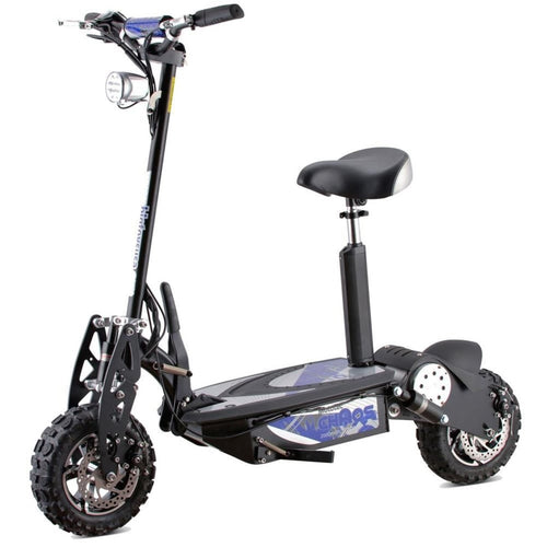 MotoTec Chaos 2000w 60v Electric Scooter Black - Ebikecentric