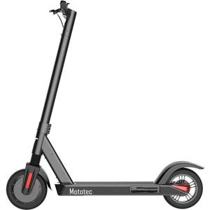 MotoTec City Pro 36v 8ah 350w Lithium Electric Scooter Black - Ebikecentric