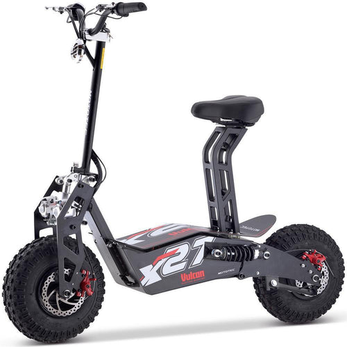 MotoTec Vulcan 48v 1600w Electric Scooter Black - Ebikecentric