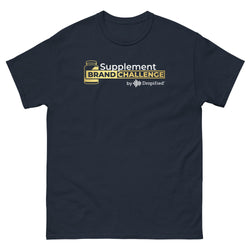 Men's heavyweight Supplement Brand Challenge tee (Navy/Black)
