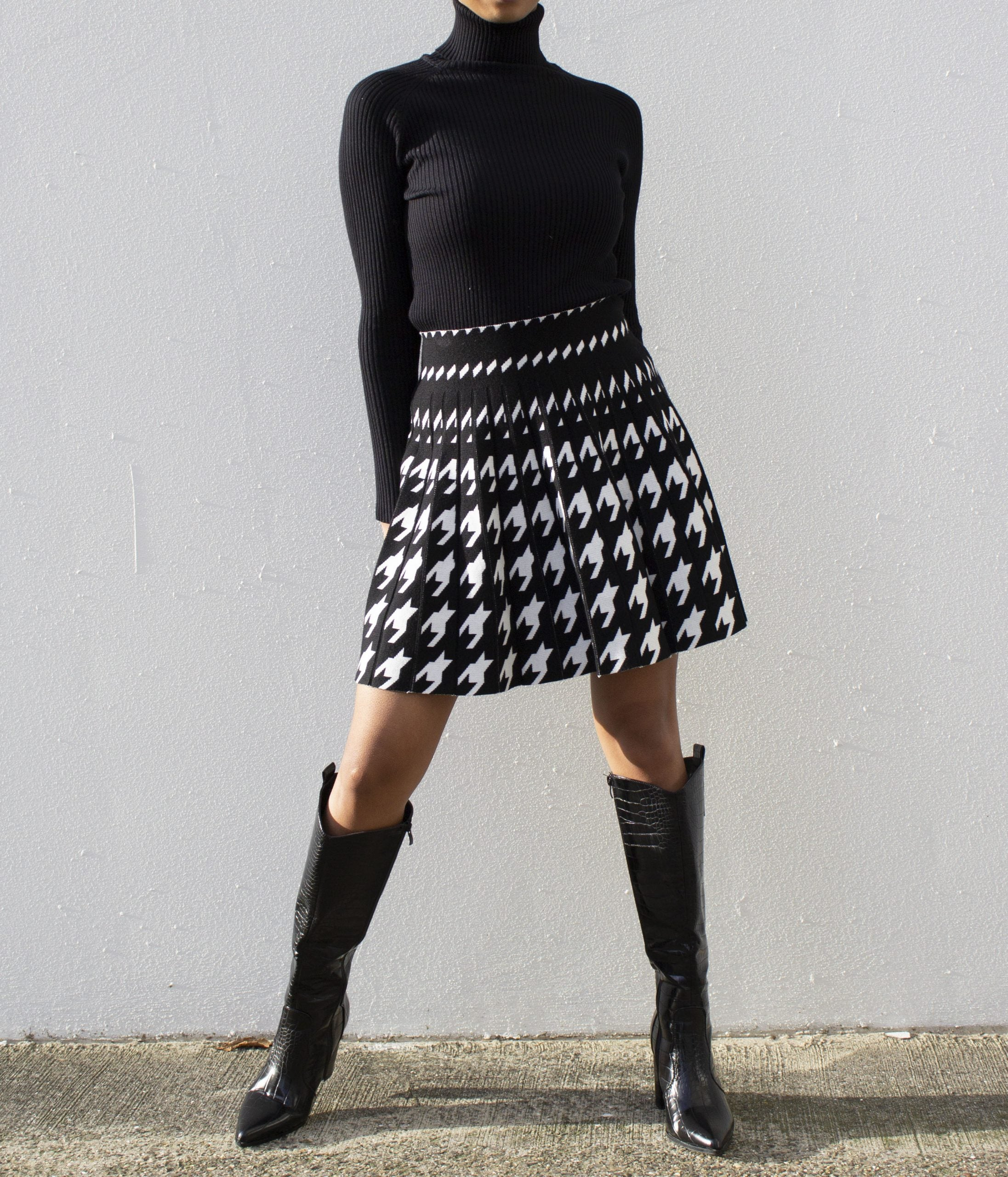 Patri skirt black/white