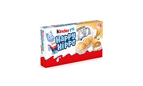 Kinder Happy Hippo Barritas de Chocolate, Pack de 5 x 20.7g