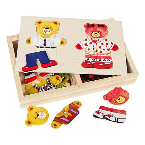 Image of ColorBaby - Figuras de madera Ositos (43604)
