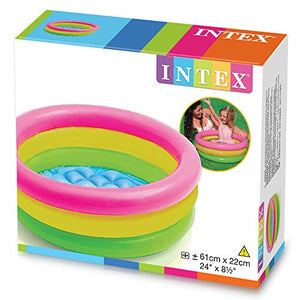 Intex 57107NP - Piscina hinchable 3 aros +base hinchable 61 x 22 cm, 28 l