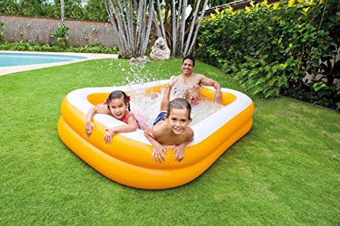 Intex 57181NP - Piscina hinchable rectangular 229 x 147 x 46 cm, 600 litros